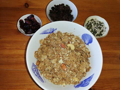 Our winning home made muesli.